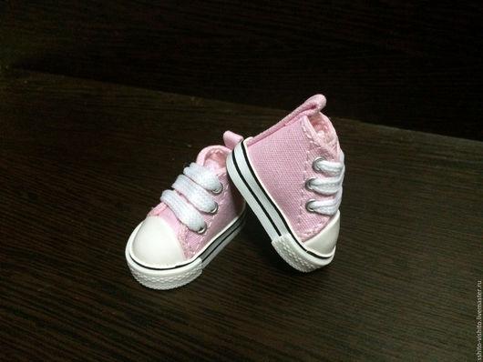 Куклы и игрушки ручной работы. Ярмарка Мастеров - ручная работа. Купить Кеды для кукол 5см (обувь для кукол) цв.розовый. Handmade.