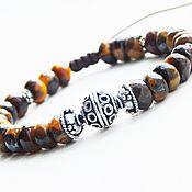 Украшения handmade. Livemaster - original item Tiger Eye Charm Bracelet. Handmade.