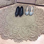 Для дома и интерьера handmade. Livemaster - original item Jute rug with lace trim. Handmade.
