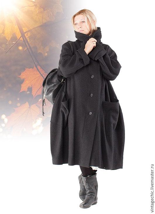 Верхняя одежда ручной работы. Ярмарка Мастеров - ручная работа. Купить Теплое пальто из лодена art.138d. Handmade. Бохо