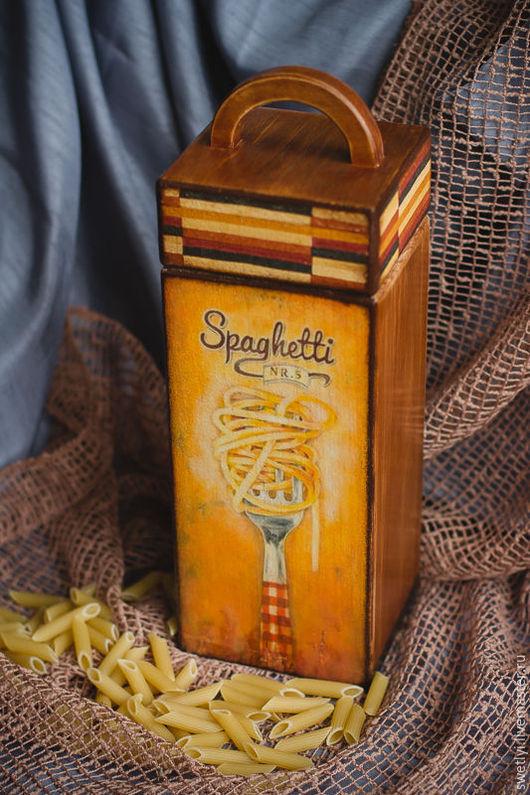 Кухня ручной работы. Ярмарка Мастеров - ручная работа. Купить Короб для спагетти. Handmade. Коричневый, короб для спагетти, короб для макаронов
