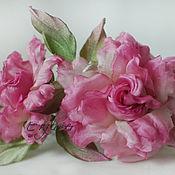handmade. Livemaster - original item Silk flowers. FABRIC FLOWERS. Wreath