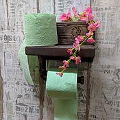 Подставки ручной работы. Ярмарка Мастеров - ручная работа Полочка для туалетной бумаги. Handmade.