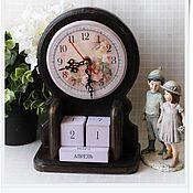 """Для дома и интерьера ручной работы. Ярмарка Мастеров - ручная работа Часы-календарь """"Два в одном"""". Handmade."""
