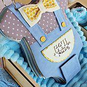 Подарок новорожденному ручной работы. Ярмарка Мастеров - ручная работа Фотоальбом для мальчика в форме бодика. Handmade.