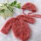Боди ручной работы. Ярмарка Мастеров - ручная работа Боди для девочки Комплект для фотосессии Newbornprops. Handmade.