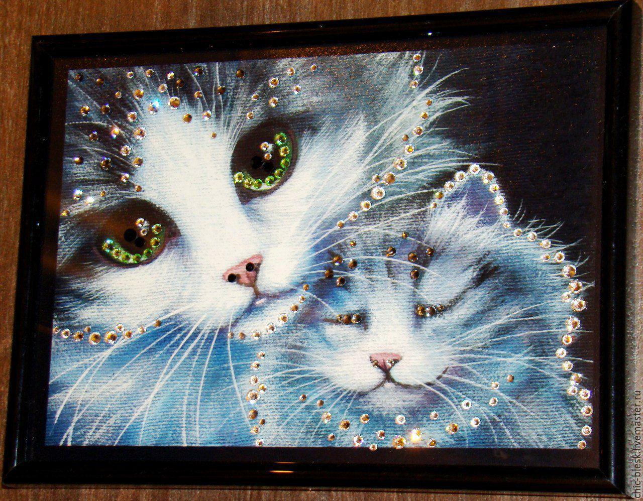Картина своими руками кошки