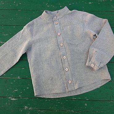 Одежда ручной работы. Ярмарка Мастеров - ручная работа Рубашка льняная. Handmade.