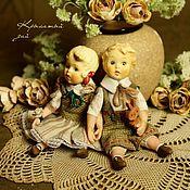 Куклы и пупсы ручной работы. Ярмарка Мастеров - ручная работа Малыши из антикварных головок Павлуша и Олюшка. Handmade.