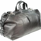 Сумки и аксессуары handmade. Livemaster - original item Leather travel bag black. Handmade.
