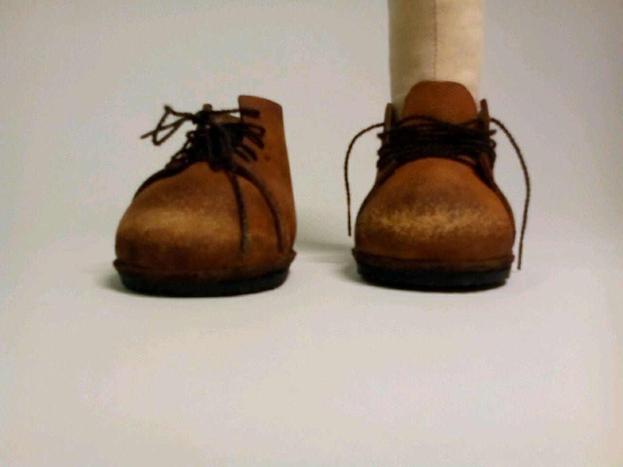 Как сшить кожаные ботинки для куклы