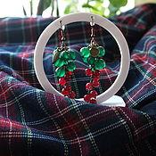 handmade. Livemaster - original item Earrings-bunches of