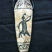 Фен-шуй и эзотерика ручной работы. Ярмарка Мастеров - ручная работа Кулон - оберег, кость рыси.. Handmade.