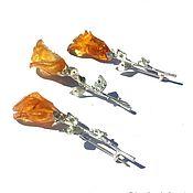 Украшения handmade. Livemaster - original item Brooch Yellow rose flower. Handmade.
