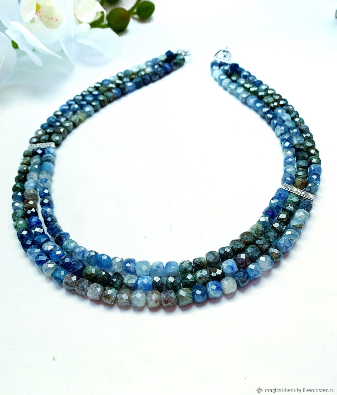 Natural kyanite necklace, Necklace, Moscow,  Фото №1