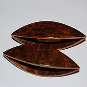 Материалы для творчества handmade. Livemaster - original item A Pair of Wooden Tatting Shuttles Hand Made in Walnut Burl. Handmade.