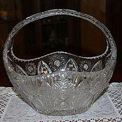 Винтаж handmade. Livemaster - original item Large crystal vase