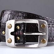 handmade. Livemaster - original item Wide Python leather belt, 4,3 cm width IMP3111K. Handmade.