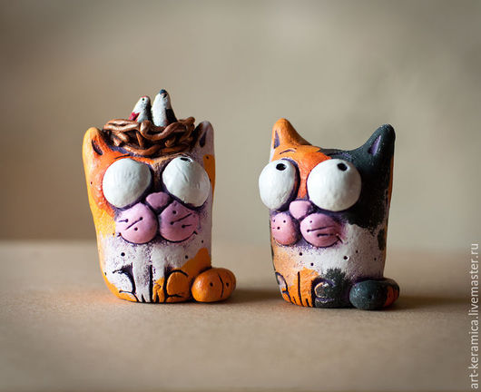 Статуэтки ручной работы. Ярмарка Мастеров - ручная работа. Купить Кот керамический Тимофей. Handmade. Керамический кот, забавный кот