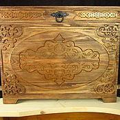 Для дома и интерьера handmade. Livemaster - original item Chest carved
