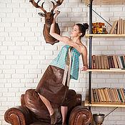 Одежда ручной работы. Ярмарка Мастеров - ручная работа Кожаная юбка и шелковый топ. Handmade.