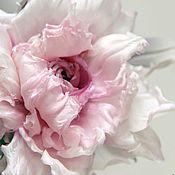 """Украшения ручной работы. Ярмарка Мастеров - ручная работа Шелковая Роза - """"Pink"""" - заколка-брошь. Цветы из шелка. Handmade."""