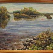 Картины и панно ручной работы. Ярмарка Мастеров - ручная работа Тихая река. Handmade.