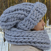 Аксессуары handmade. Livemaster - original item Cap Snood chunky knit. Handmade.