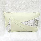 "Сумки и аксессуары handmade. Livemaster - original item Large leather beige clutch bag ""Belle"",cream,beige bag. Handmade."