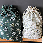 Сувениры и подарки handmade. Livemaster - original item Pouch for storage of linen. Packaging. Acomadate. Ecomerce. Handmade.