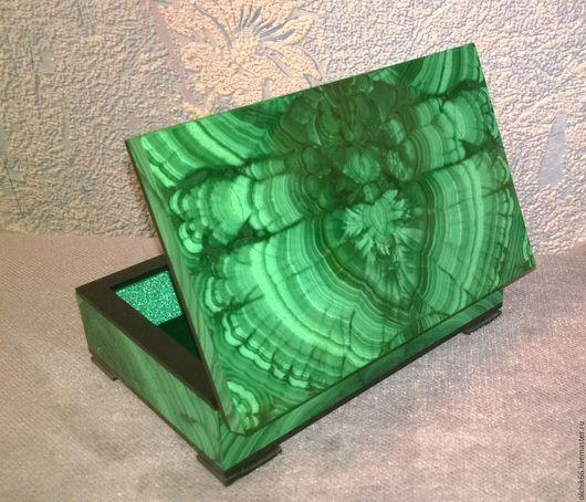 """Шкатулки ручной работы. Ярмарка Мастеров - ручная работа. Купить Малахитовая шкатулка """"Хозяйка медной горы"""". Handmade. Тёмно-зелёный"""