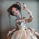 Коллекционные куклы ручной работы. Заказать Амели. Анна Фадеева (rifania-dolls). Ярмарка Мастеров. Птичка, сатин