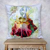 Для дома и интерьера handmade. Livemaster - original item Pillow with flower
