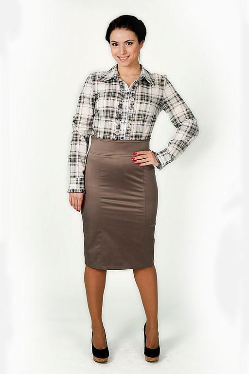 Skirts handmade. Livemaster - handmade. Buy Straight skirt made of cotton with elastane.Skirt classic