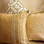 Для дома и интерьера ручной работы. Ярмарка Мастеров - ручная работа Комплект льняных чехлов/наволочек на диванные подушки. Handmade.