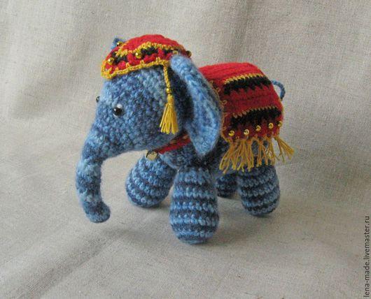 Игрушки животные, ручной работы. Ярмарка Мастеров - ручная работа. Купить Слоник, слон, слоненок. Слон вязаный крючком. Вязаная игрушка.. Handmade.