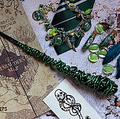 Субкультуры handmade. Livemaster - original item The author`s Magic wand Harry Potter green Slytherin Harry Potter. Handmade.