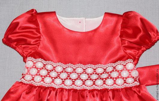 Одежда для девочек, ручной работы. Ярмарка Мастеров - ручная работа. Купить Платье для девочки Алый аленький цветочек нарядное. Handmade.