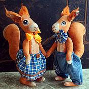 Куклы и игрушки ручной работы. Ярмарка Мастеров - ручная работа Влюбленные белки. Грунтованный текстиль. Handmade.