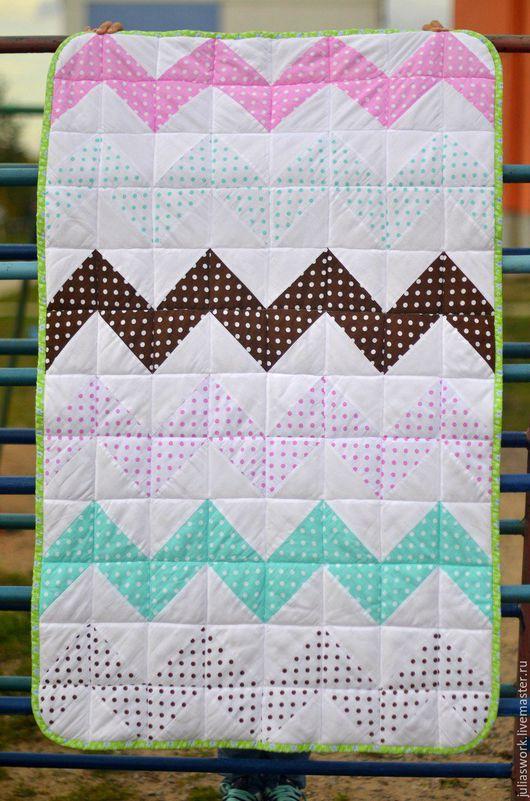 """Пледы и одеяла ручной работы. Ярмарка Мастеров - ручная работа. Купить Одеяло """"Горошки"""". Handmade. Комбинированный, одеяло на выписку"""