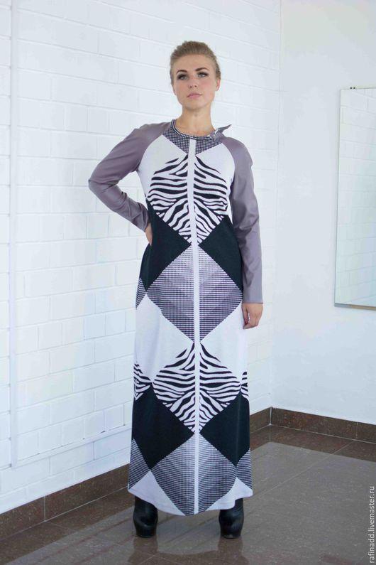"""Платья ручной работы. Ярмарка Мастеров - ручная работа. Купить Платье """"Геометрия"""". Handmade. Комбинированный, платье трикотажное, трикотаж шерсть"""