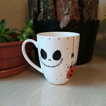 Посуда ручной работы. Ярмарка Мастеров - ручная работа Кружка Хеллоуин. Handmade.
