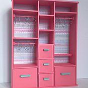 Куклы и игрушки ручной работы. Ярмарка Мастеров - ручная работа Большой розовый шкафчик для кукол Monster High, Ever After High,Barbie. Handmade.