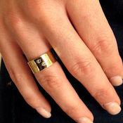 """Украшения ручной работы. Ярмарка Мастеров - ручная работа Широкое золотое кольцо """"Лапки"""". Кольцо с гравировкой на заказ. Handmade."""