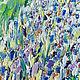 Картина сирень масло Картина холст масло цветы Весенние цветы Картина импрессионизм Город масло картина