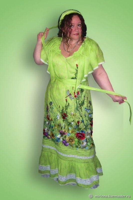 """Платье """"Ах это лето .цветение кругом""""вышивка, Сарафаны, Северодонецк,  Фото №1"""