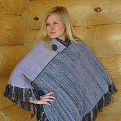 Одежда handmade. Livemaster - original item Poncho of wool and mohair