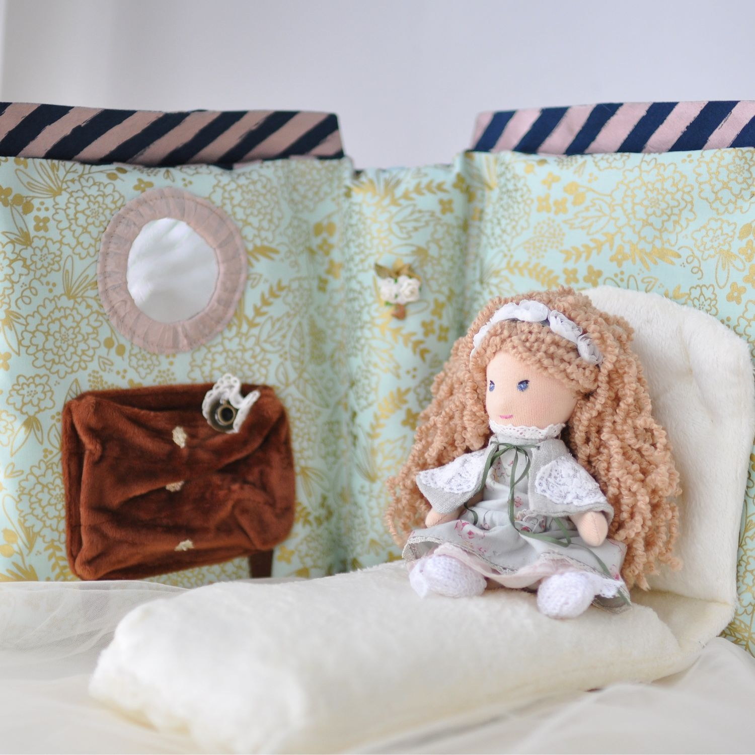 Doll and her bedroom, Waldorf Dolls & Animals, Moscow,  Фото №1