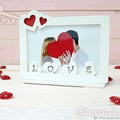 Сувениры и подарки handmade. Livemaster - original item Photo Frame Love. Handmade.