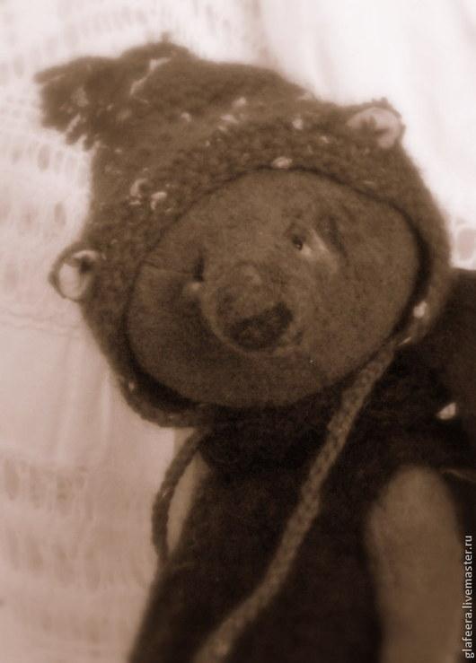 Мишки Тедди ручной работы. Ярмарка Мастеров - ручная работа. Купить Жорик Синицын. Handmade. Сиреневый, мишка в шапке